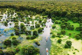 Tour Sài Gòn Đi Đảo Bà Lụa - Rừng Tràm Trà Sư khách đoàn