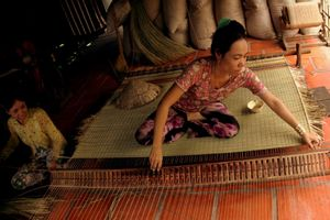 Trăm năm làng nghề dệt chiếu Long Định ở Long An