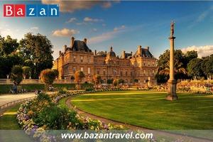 Du lịch Pháp tham quan lạc cảnh Vườn Luxembourg tuyệt đẹp