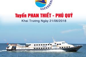 Phan Thiết - Phú Qúy nhanh hơn bao giờ hết với tàu cao tốc mới khai trương