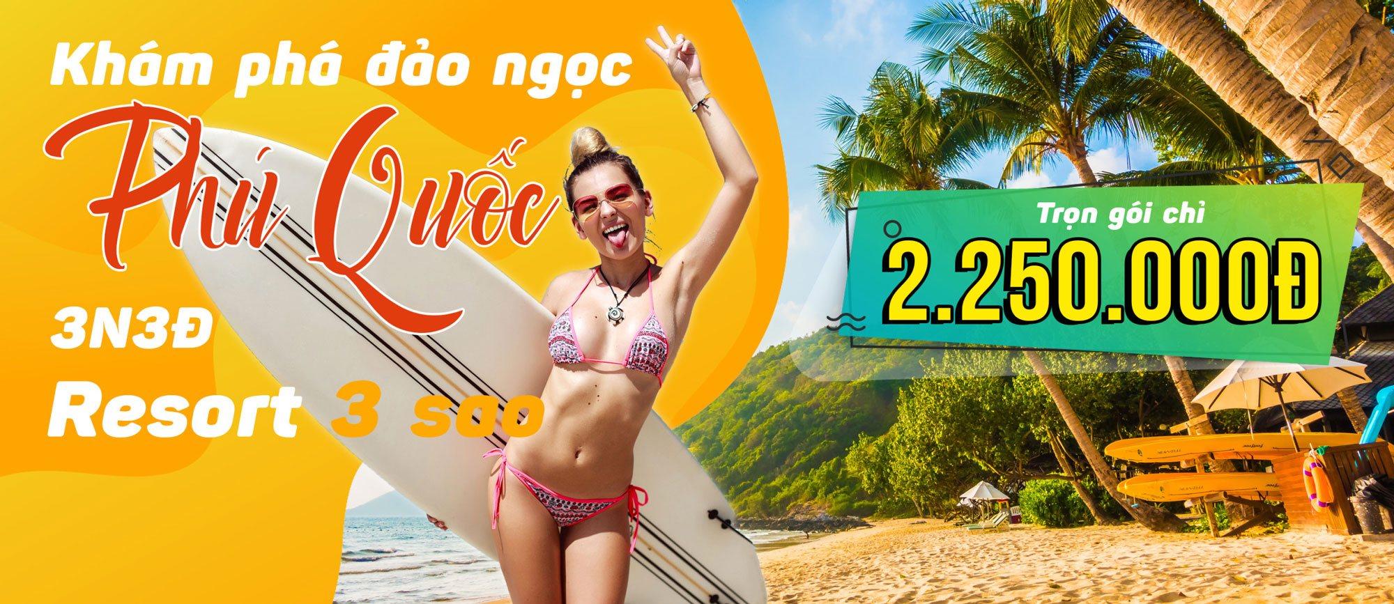 Phú Quốc 3 ngày 3 đêm resort 3 sao