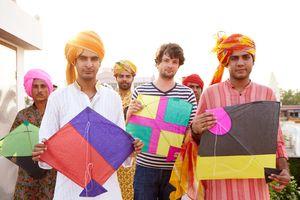 Lễ hội thả diều ở Jaipur, Ấn Độ