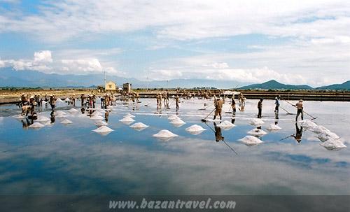 Cánh đồng muối Phương Cựu tại Ninh Thuận, bức tranh đẹp ngỡ ngàng