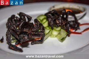 Các món ăn từ côn trùng – Đặc sản Campuchia
