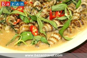 Ốc len hầm dừa Bạc Liêu – Hương vị riêng của miền Tây sông nước