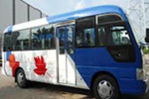 Cho thuê xe 25 - 29 - 30 chỗ tại Hóc Môn đời mới, giá rẻ