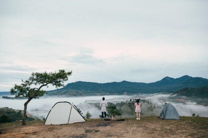 Đồi Thiên Phúc Đức: Cắm trại qua đêm, săn mây sáng sớm
