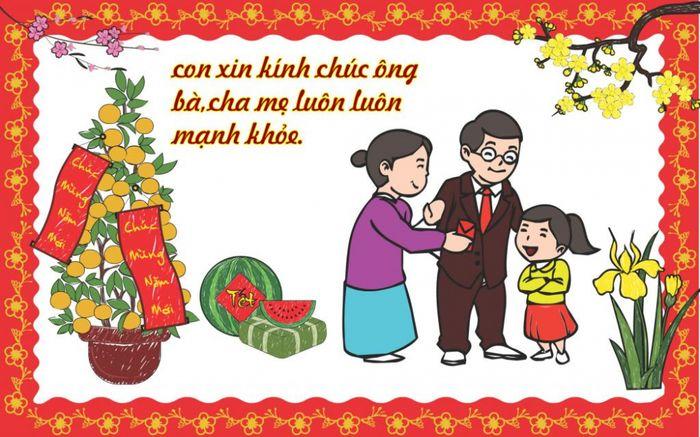 Mẫu chúc tết năm mới bố mẹ