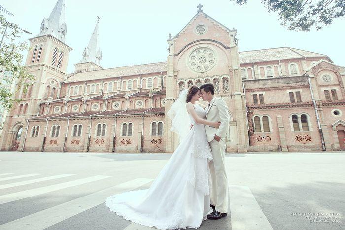 Nhà thờ lưu giữ những kỉ niệm tuyệt đẹp của đôi lứa