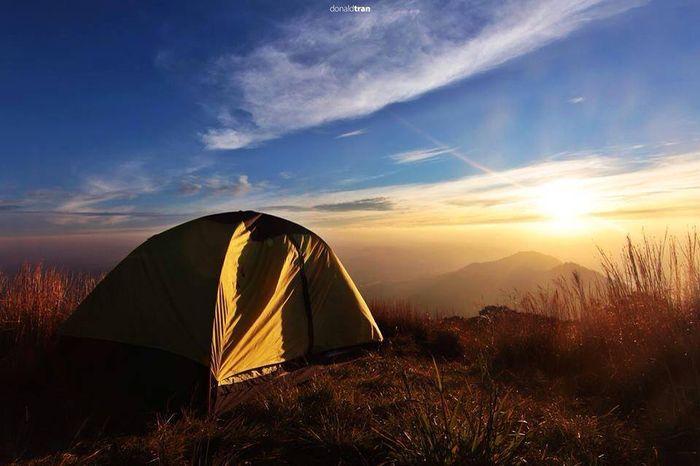 Cắm trại Đà Lạt trên đỉnh Lang Biang