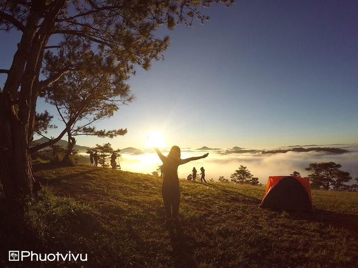 Săn mây buổi sáng ở đồi Thiên Phúc Đức
