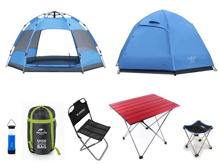 Chuẩn bị lều trại cùng các dụng cụ cần thiết