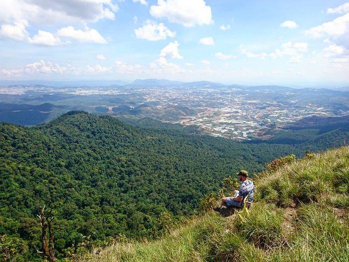 View nhìn từ núi Lang Biang