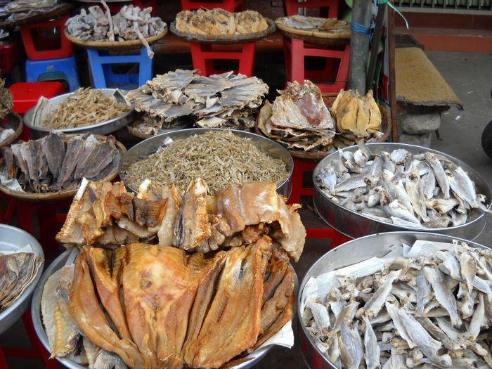 Chợ cá khô Bình Ba với nhiều loại khác nhau