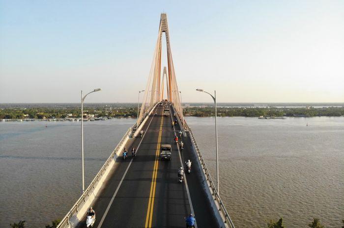 Cầu Rạch Miễu nối Bến Tre và Tiền Giang