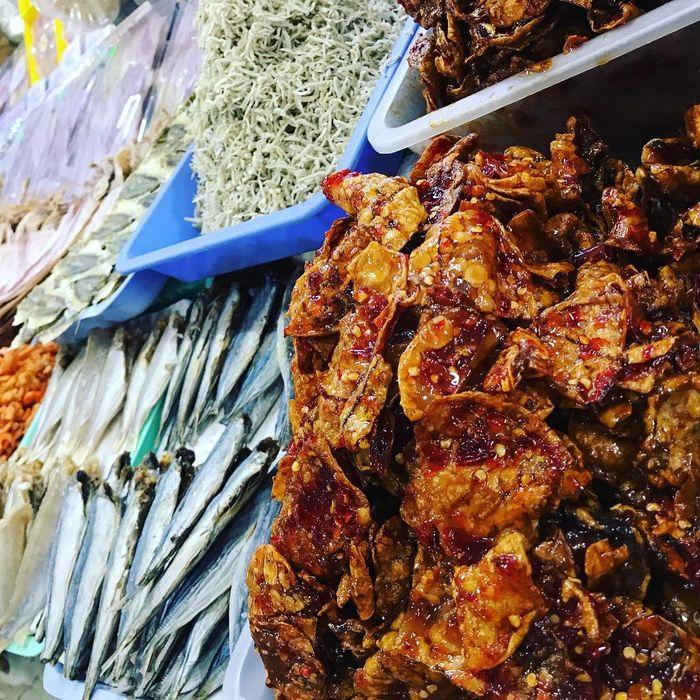 Mực rim me bán ở chợ Đầm Nha Trang