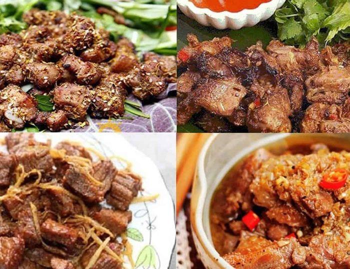 Thịt gừng Nùng Dín là món ăn đặc trưng của Sapa