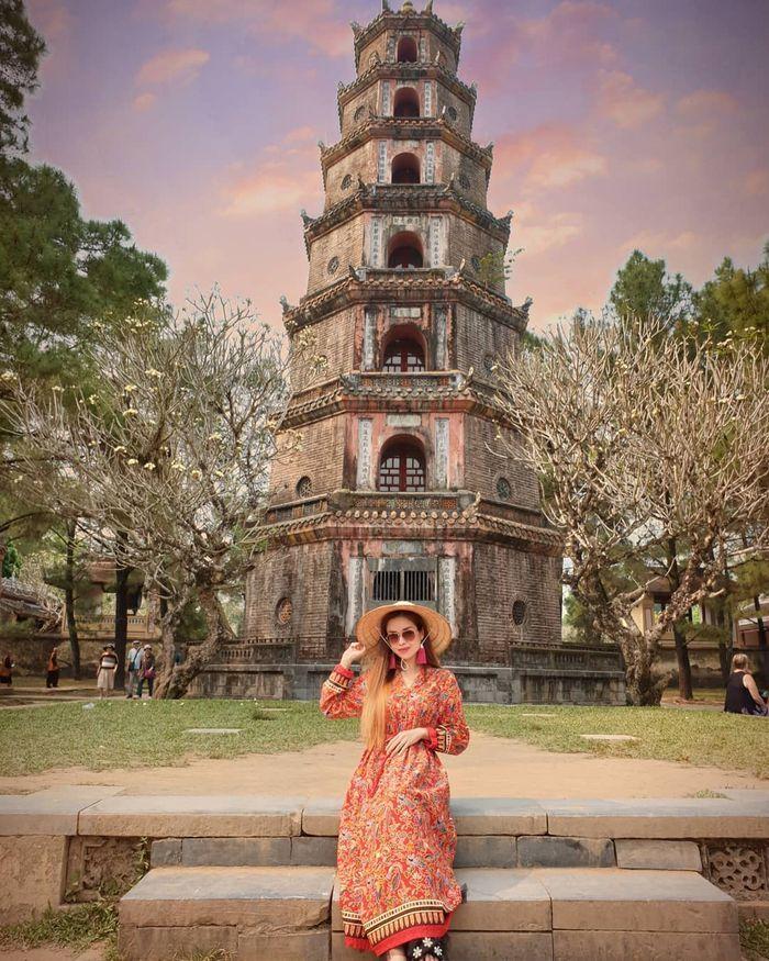 Check-in tại tháp Phước Duyên, chùa Thiên Mụ