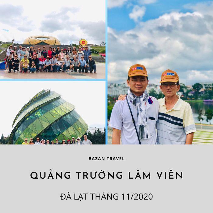 Du khách tham quan Quảng Trường Lâm Viên